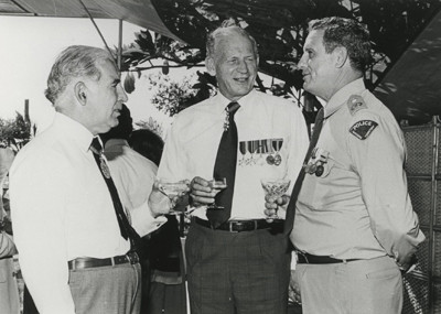 Investiture at Government House, Darwin, 5 May 1980 for Police Commissioner Peter McAulay, who the Police Headquarters would later be named after.